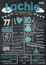 1st birthday chalkboard birthday chalkboard poster custom personalised party 1st birthday