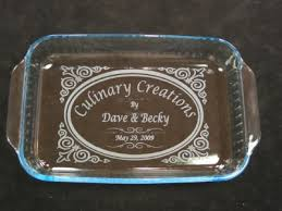engraved dishes etched personalized pyrex 9x13 glass baking dish w lid ebay