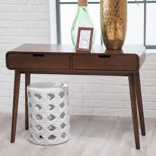 Modern Sofa Tables Furniture Belham Living Carter Mid Century Modern Console Table Hayneedle