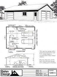 garage plans with shop two car garage with rear bay shop plan 1200 5 30 x 40 by behm