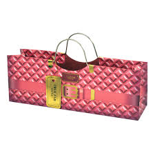 purse gift bags pink quilted horizontal 1 bottle wine purse gift bag cakewalk by