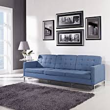 Florence Knoll Armchair Florence Knoll Style Sofa In Fabric Multiple Colors Materials