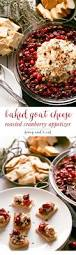 thanksgiving and christmas baked goat cheese roasted cranberry appetizer