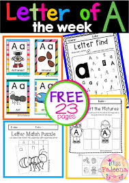 Free Time Worksheets Free Letter Of The Week A Is Designed To Help Teach Letter A For