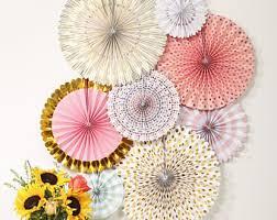 hanging paper fans paper fan etsy