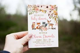woodland baby shower invitations woodland baby shower invitation girl deer baby shower