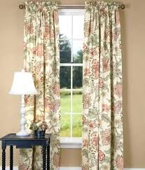 Floral Lined Curtains Floral Curtains Soft Floral Lined Rod Pocket Curtains