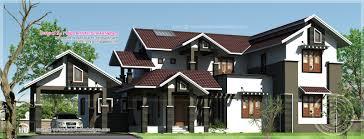 sloping roof 4 bedroom villa in 2552 sq feet kerala home design