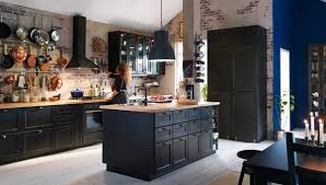 black kitchen cabinets with walls kitchen cabinets bold ideas for rich shades in the