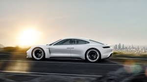 porsche mission e charging porsche mission e takes on tesla model s rev and shift