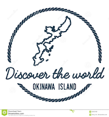 Okinawa Map Okinawa Island Map Outline Vintage Discover The Stock Vector