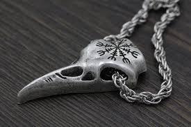 necklace skull images Helm of awe raven skull necklace valhalla vigor jpg