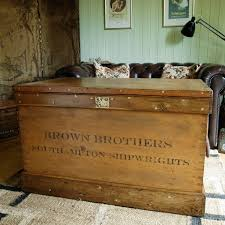 antique victorian chest rustic sea chest coffee table storage