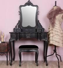 Vintage Style Vanity Table Chateau Style Black Dressing Table Set Black Dressing