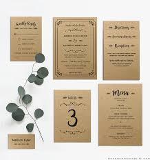 wedding invitation set whimsical rustic diy wedding invitation set mountainmodernlife