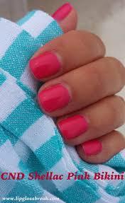 lipgloss break cnd shellac pink u0026 lobster roll
