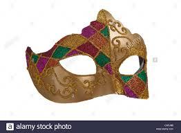 white mardi gras mask gold mardi gras mask on a white background stock photo royalty