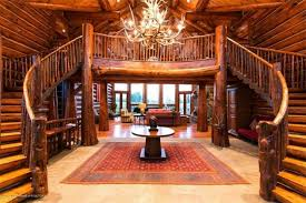 beautiful log home interiors majestic log home staircase the log builders