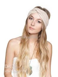 top knot headband twist knot headband stretch lycra turban ealstic hair band