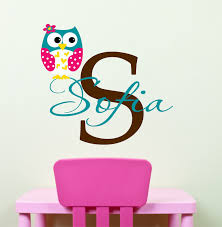 owl wall decals name wall decal childrens wall decals zoom