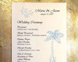 Wedding Ceremony Programs Wedding Ceremony Programs Folded With Ribbon Personalized