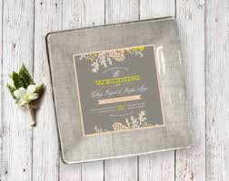 wedding invitation plate keepsake wedding invitation tray couples gift wedding plate