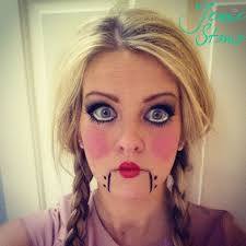 Halloween Costumes Creepy Doll Halloween Doll Makeup Tutorial Pretty Big Eyes