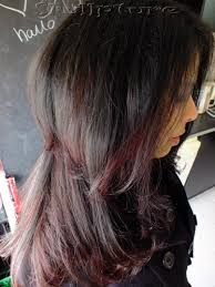 two layer haircut for girls two layered haircut with natural red streaks www facebook com