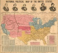 Tennessee Political Map by A National Political Map From The Fraught Campaign Of 1856 Rare