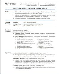 Sample Resume For 2 Years Experience In Mainframe Database Engineer Sample Resume 21 Resume Templates Entry Level