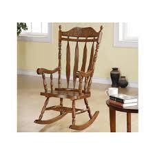 com monarch specialties high solid wood rocking chair 45 inch dark walnut kitchen dining
