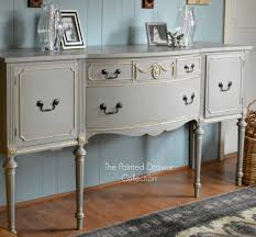 Gray And Gold French Linen And Gold Sideboard Transformation Before And After