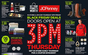 jcpenney open on thanksgiving jcpenney black friday ad 2016 southern savers