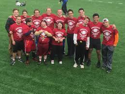 Red Flag Football Custom T Shirts For Harvard Special Olympics Ready For Flag