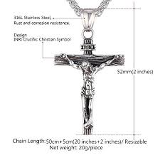 crucifix pendant necklace images U7 jewelry men 39 s stainless steel jesus christ cross crucifix jpg