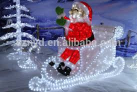 Outdoor Sleigh Decoration 2015 Outdoor Christmas Decorations Of Sleigh And Santa Claus Buy