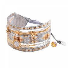 woman bracelet images Woman pearl neutral greymedly mishky bracelet jpg