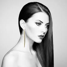 earing model shiny gold plated irregular elongated stick earring isthatajeni