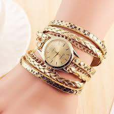 weave wrap bracelet images Women 39 s casual vintage multilayer wristwatch weave wrap rivet 49447