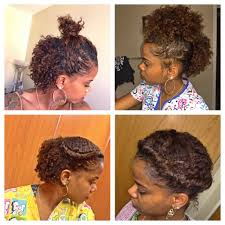 easy natural hairstyles for short hair roll tuck pin quick natural