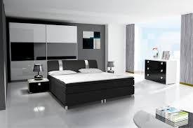 Schlafzimmer Komplett Mit Bett 140x200 Hochglanz Schlafzimmer Set Mit Boxspringbett Rivabox Möbel Für