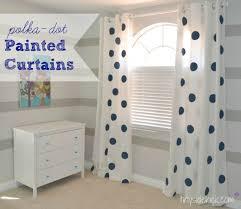 Polka Dot Curtains How To Paint Curtains Painted Jumbo Polka Dot Curtains Kid Bedroom