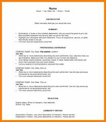 Short Resume Template Example Of A Chronological Resume Example Of A Chronological