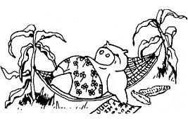 potbellied pig coloring page animals town animals color sheet