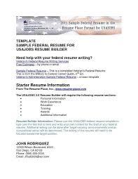 usajobs resume sample federal job resume template federal resume