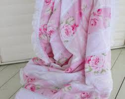 shabby chic blanket etsy