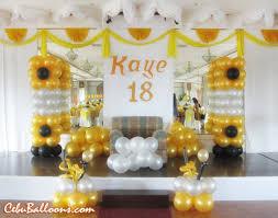 debut balloon decoration at holiday plaza hotel cebu balloons