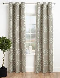 M S Curtains Made To Measure Geometric Jacquard Eyelet Curtains Printed Curtains Living