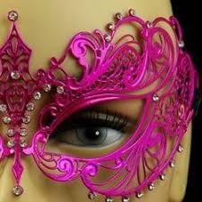 pink masquerade masks venetian metal hot pink laser cut masquerade mask with rhinestones