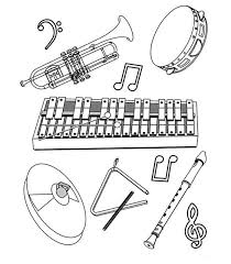 62 coloring pages musical instruments kids fun uk